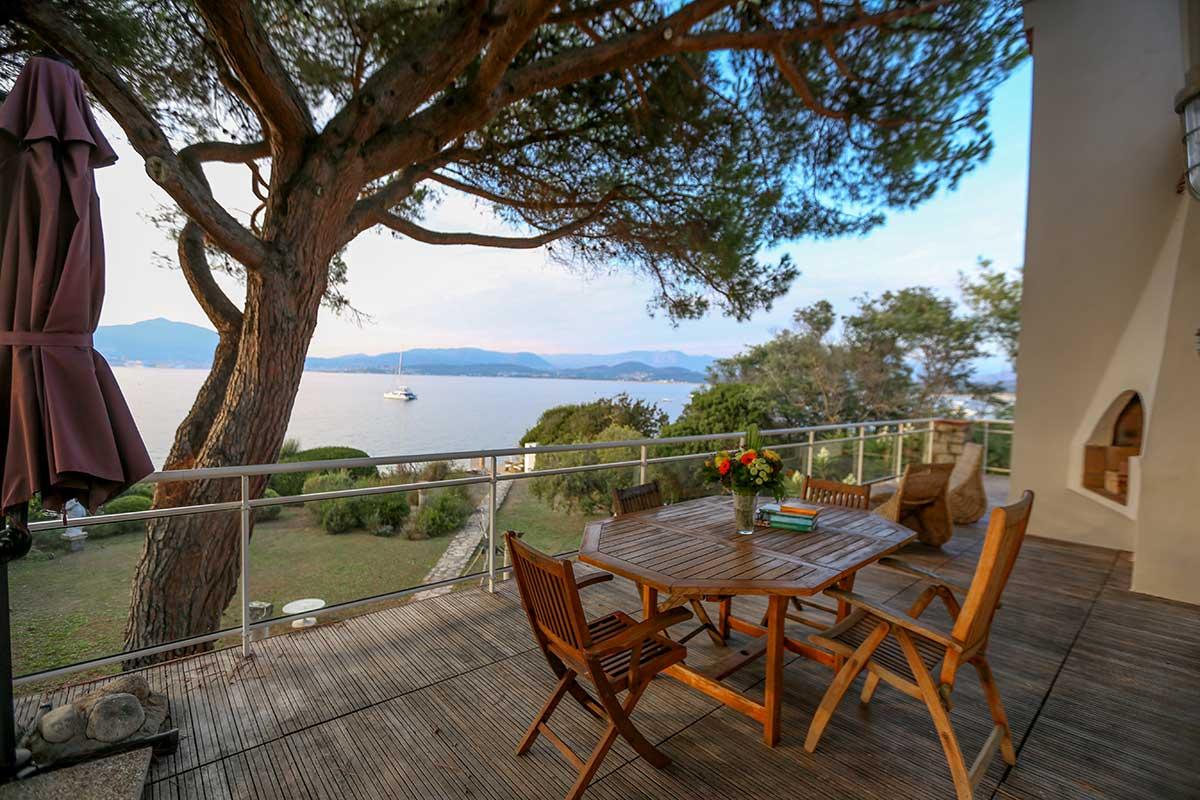 location villa vacances porticcio terrasse mer