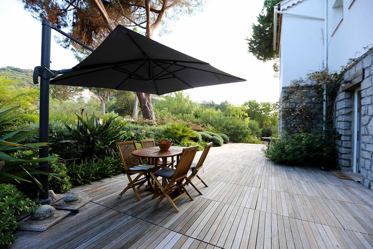 location villa vacances porticcio deck