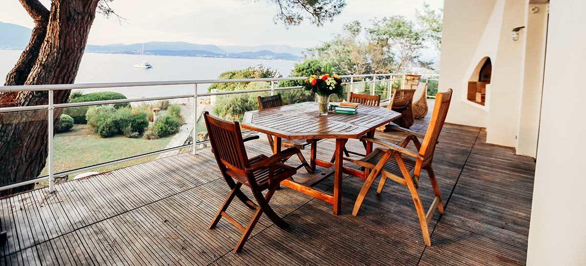 location villa vacances porticcio repas extérieur