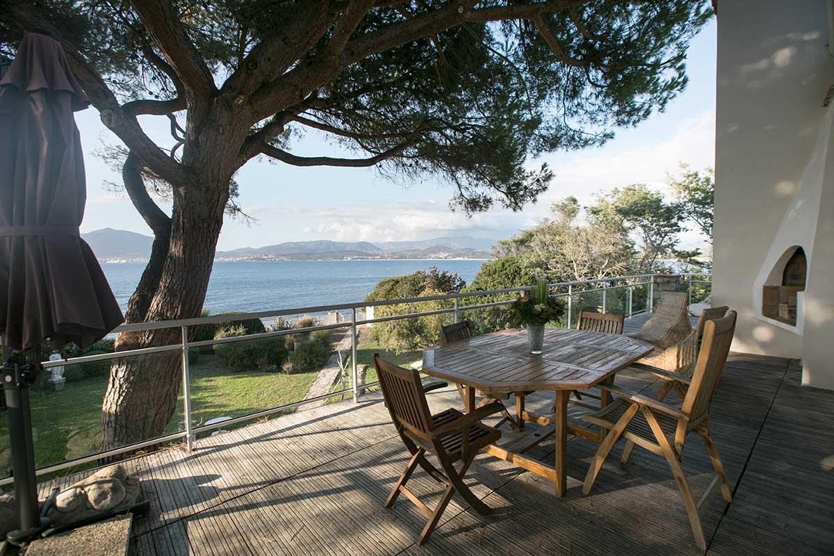 location villa vacances porticcio terrasse belle vue mer